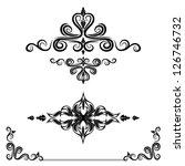 calligraphic elements set | Shutterstock .eps vector #126746732