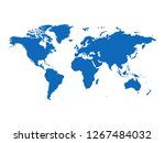 world map vector | Shutterstock .eps vector #1267484032
