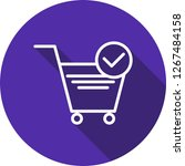vector verified cart items icon  | Shutterstock .eps vector #1267484158