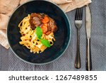 home made beef bourguignon with ... | Shutterstock . vector #1267489855