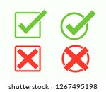 symbols accept and reject or... | Shutterstock .eps vector #1267495198