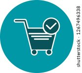 vector verified cart items icon  | Shutterstock .eps vector #1267496338