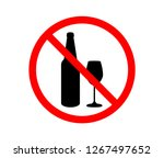 prohibiting sign for alcohol.... | Shutterstock .eps vector #1267497652
