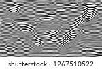 black wavy stripes background.... | Shutterstock . vector #1267510522