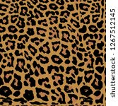 seamless leopard print. vector...   Shutterstock .eps vector #1267512145