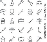 thin line icon set   suitcase... | Shutterstock .eps vector #1267522042