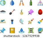 color flat icon set paint brush ...   Shutterstock .eps vector #1267529938