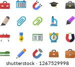 color flat icon set stationery... | Shutterstock .eps vector #1267529998