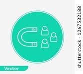 user attraction vector icon... | Shutterstock .eps vector #1267532188