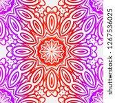 abstract flower pattern paper... | Shutterstock .eps vector #1267536025
