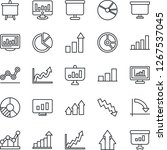 thin line icon set   growth... | Shutterstock .eps vector #1267537045