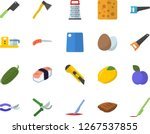 color flat icon set saw flat... | Shutterstock .eps vector #1267537855