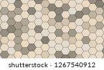 hexagonal grid pattern with... | Shutterstock . vector #1267540912