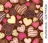 seamless chocolate pattern with ...