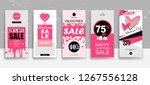 set of valentine's day... | Shutterstock .eps vector #1267556128