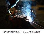 pipeline and welder | Shutterstock . vector #1267562305