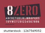 stenciled bold weight... | Shutterstock .eps vector #1267569052