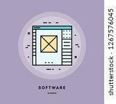 software  flat design thin line ... | Shutterstock .eps vector #1267576045