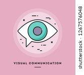 visual communication  flat... | Shutterstock .eps vector #1267576048