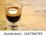 strong macchiato coffee in...   Shutterstock . vector #1267586785