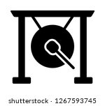suspended gong musical...   Shutterstock .eps vector #1267593745
