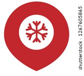 snowflake and map pin. logo... | Shutterstock .eps vector #1267605865
