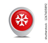 snowflake and map pin. logo... | Shutterstock .eps vector #1267605892