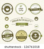 coffee labels | Shutterstock .eps vector #126761018