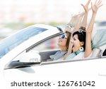 female friends driving... | Shutterstock . vector #126761042
