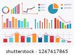 chart. analytical data. vector... | Shutterstock .eps vector #1267617865