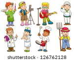 occupation set. vector... | Shutterstock .eps vector #126762128