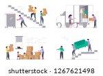set of concepts for transport... | Shutterstock .eps vector #1267621498