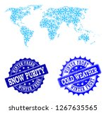freezing map of world and... | Shutterstock .eps vector #1267635565
