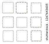 set of vector vintage frames on ... | Shutterstock .eps vector #1267643605