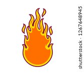 fire in tribal style   Shutterstock .eps vector #1267648945