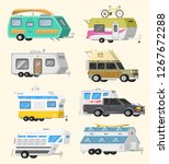 a set of trailers or family rv... | Shutterstock .eps vector #1267672288