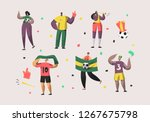 football brazil fan character... | Shutterstock .eps vector #1267675798