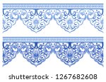 classical blue and white... | Shutterstock . vector #1267682608