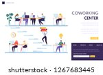 coworking office space landing... | Shutterstock .eps vector #1267683445