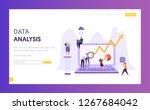 business data analysis research ... | Shutterstock .eps vector #1267684042