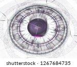 watch 3d digital fractal design.... | Shutterstock . vector #1267684735