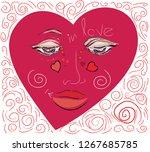 congratulatory heart for a... | Shutterstock .eps vector #1267685785
