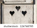 Heart Shape Look Out On Wooden...