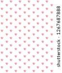 love symbol. cute light pink... | Shutterstock .eps vector #1267687888