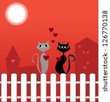 cats in love | Shutterstock . vector #126770138