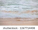 the beach has a strong wind. | Shutterstock . vector #1267714408