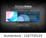 blue and red banner abstract... | Shutterstock .eps vector #1267735135