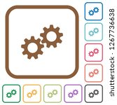 collaboration simple icons in... | Shutterstock .eps vector #1267736638