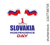 slovakia independence day...   Shutterstock .eps vector #1267738735