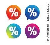 percent sign label sale | Shutterstock .eps vector #1267752112